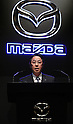 April 27, 2016, Tokyo, Japan - Japanese automaker Mazda Motor president Masamichi Kogai announces the company's financial result ended March 31 at a press conference in Tokyo on Wednesday, April 27, 2016. Mazda posted 134.4 billion yen for the net income, a decrease of 24.4 billion yen or 15.4 percent from the previous fiscalyear.  (Photo by Yoshio Tsunoda/AFLO) LWX -ytd-