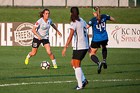 Kansas City, MO - Wednesday August 16, 2017: Kelley O'Hara, Maegan Kelly during a regular season National Women's Soccer League (NWSL) match between FC Kansas City and Sky Blue FC at Children's Mercy Victory Field.