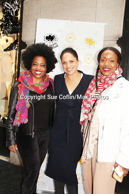 Rhonda Ross - Soledad O'Brien - Tracy Reese - celebrating 30 years of style and twenty-five years of giving back through Hearts of Gold at a black carpet salon style spring/summer fashion show and cocktail reception on May 9, 2019 at Blanc et Noir, New York City, New York.(Photo by Sue Coflin/Max Photos)