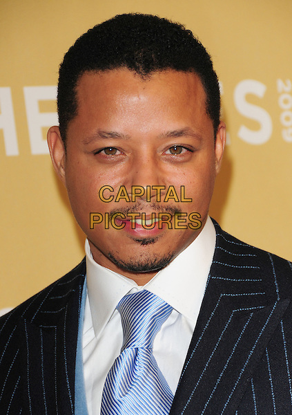 TERRENCE HOWARD .at The 3rd Annual CNN Heroes: An All-Star Tribute held at The Kodak Theatre in Hollywood, California, USA,  November 21st 2009                                                                   .portrait headshot black tie soul patch goatee facial hair moustache mustache white shirt pinstripe black jacket .CAP/RKE/DVS.©DVS/RockinExposures/Capital Pictures