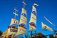 """Honda's """"Ship of Dreams"""" Rose Parade Float Sailing"""