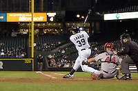 September 24, 2008: Seattle Mariners' Bryan LaHair at-bat during a game against the Los Angeles Angels of Anaheim at Safeco Field in Seattle, Washington.
