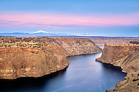 Lake Billy Chinook and Mt. Jefferson. Central Oregon
