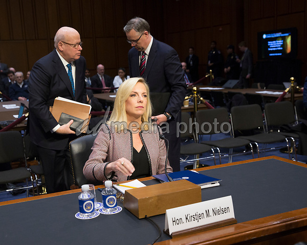 United States Secretary of Homeland Security Kirstjen Nielsen appears before the Senate Judiciary Committee on Capitol Hill, January 16, 2018. Photo Credit: Chris Kleponis/CNP/AdMedia