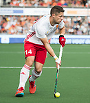 AMSTELVEEN - Mark Gleghorne (Eng) during the poulematch England v Germany (men) 3-4,Rabo Eurohockey Championships 2017.  WSP COPYRIGHT KOEN SUYK