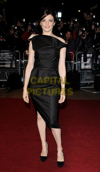 "RACHEL WEISZ .At ""The Brothers Bloom"" UK Premiere during the London Film Festival, Odeon West end, London, England, .October 27th 2008..full length back dress off the shoulder shoes heels .CAP/CAN.©Can Nguyen/Capital Pictures"