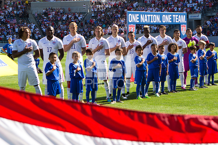 Carson, Calif. - Sunday, February 8, 2015: USMNT starting XI. The USMNT defeated Panama 2-0 in an international friendly at StubHub Center.
