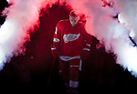 8 October 2010: Detroit Red Wings forward Valtteri Filppula (51) is introduced and takes the ice before the first period of the Anaheim Ducks at Detroit Red Wings NHL hockey game, at Joe Louis Arena, in Detroit, MI...***** Editorial Use Only *****