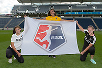 Bridgeview, IL - Sunday June 25, 2017: Flag bearers during a regular season National Women's Soccer League (NWSL) match between the Chicago Red Stars and Sky Blue FC at Toyota Park. The Red Stars won 2-1.