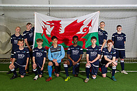 Pictured: Cardiff and Vale college seven aside football team squad photoshoot at Cardiff International Sports Campus, Cardiff, Wales, UK <br /> Wednesday 24 April 2019