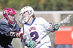 Manhattan Beach, CA 02-11-17 - Jon Edwards (Loyola Marymount #2) and Colin Skaggs (Santa Clara #9) in action during the MCLA non-conference game between LMU (SLC) and Santa Clara (WCLL).  Santa Clara defeated LMU 18-3.
