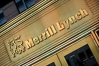 Entrance to the MERRILL LYNCH building - NEW YORK CITY