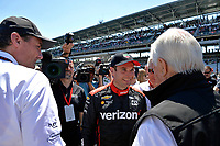 Verizon IndyCar Series<br /> Indianapolis 500 Carb Day<br /> Indianapolis Motor Speedway, Indianapolis, IN USA<br /> Friday 26 May 2017<br /> Pit-Stop Competition winner Will Power, Team Penske Chevrolet with Tim Cindric and Roger Penske<br /> World Copyright: F. Peirce Williams