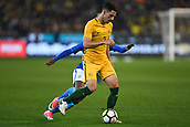 June 13th 2017, Melbourne Cricket Ground, Melbourne, Australia; International Football Friendly; Brazil versus Australia; Milos Degenek of Australia shileds his opponent from the ball