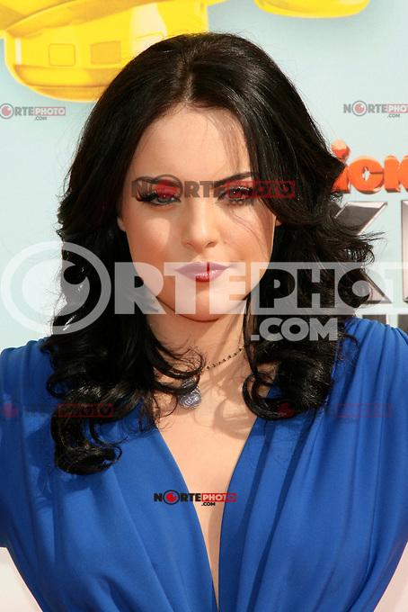 Elizabeth Gillies at Nickelodeon's 25th Annual Kids' Choice Awards at The Galen Center on March 31, 2012 in Los Angeles, California. &copy; mpi26/MediaPunch Inc. /NortePhoto<br /> <br />  **CREDITO*OBLIGATORIO** *No*Venta*A*Terceros*<br /> *No*Sale*So*third* ***No*Se*Permite*Hacer Archivo***No*Sale*So*third*