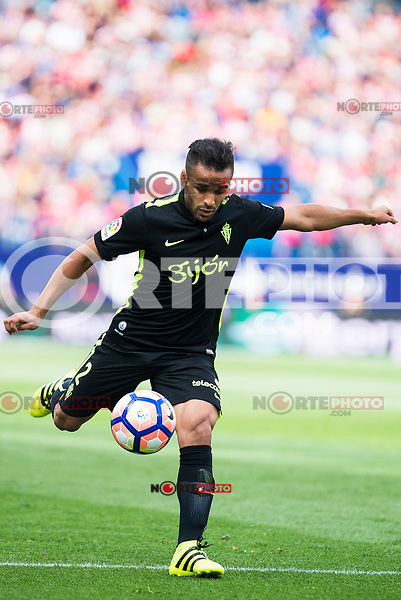 Sporting de Gijon's Douglas during a match of La Liga Santander at Vicente Calderon Stadium in Madrid. September 17, Spain. 2016. (ALTERPHOTOS/BorjaB.Hojas) /NORTEPHOTO