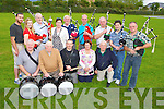The new Killorglin and District Pipe band who will be performing for the first time at Puck Fair front row l-r: pat Piggot, William Fitzgerald, Billy Coffey, Kathleen O'Neill, Pat Rochford, Sean Moriarty. Back row: Dermot Galvin, Niamh O'Connor, Eamon Mulvihill, Suzanne Moriarty, James Ferris, Gerard Baynham, Mike Major, John Nagle, Joseph O'Shea and Tommy McGillicuddy