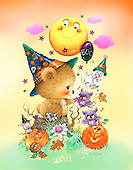 GIORDANO, CUTE ANIMALS, LUSTIGE TIERE, ANIMALITOS DIVERTIDOS, Halloween, paintings+++++,USGI2053MM,#AC#