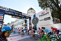 Picture by Alex Whitehead/SWpix.com - 28/09/2018 - Cycling 2018 Road Cycling World Championships Innsbruck-Tiriol, Austria - Mens U23 Road Race - The peloton on the circuit.