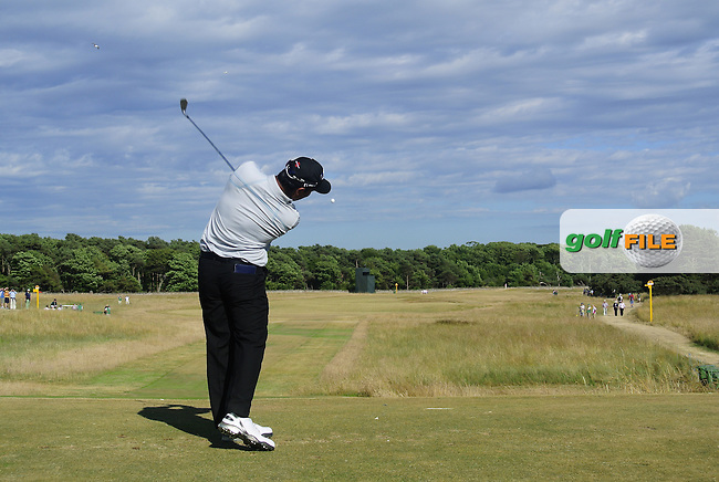 Shiv KAPUR (IND) during round one of  The 142th Open Championship Muirfield, Gullane, East Lothian, Scotland 18/7/2013<br /> Picture Eoin Clarke www.golffile.ie: