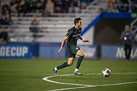 Santa Barbara, CA - Friday, December 7, 2018:  Akron men's soccer defeated Michigan State 5-1 in a semi-final match in the 2018 College Cup.  Michigan State's Hunter Barona advances the ball.