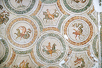 Roman mosaics depicting mythical sea gods & godesses from the north African Roman province of Africanus . Bardo Museum, Tunis, Tunisia.