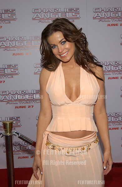 Actress CARMEN ELECTRA at the Hollywood premiere of  Charlie's Angels: Full Throttle..June 18, 2003.