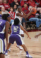 STANFORD, CA - January 21, 2012: Stanford Cardinal's Chiney Ogwumike during Stanford's 65-47 victory over Washington at Maples Pavilion.