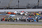 2017 F4 US Championship<br /> Rounds 4-5-6<br /> Indianapolis Motor Speedway, Speedway, IN, USA<br /> Sunday 11 June 2017<br /> #41 Braden Eves & #86 Brendon Leitch lead pack of cars furing openning laps of race #1<br /> World Copyright: Dan R. Boyd<br /> LAT Images