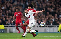 Harry Winks of Spurs & Serge Gnabry of Bayern Munich during the UEFA Champions League group match between Tottenham Hotspur and Bayern Munich at Wembley Stadium, London, England on 1 October 2019. Photo by Andy Rowland.