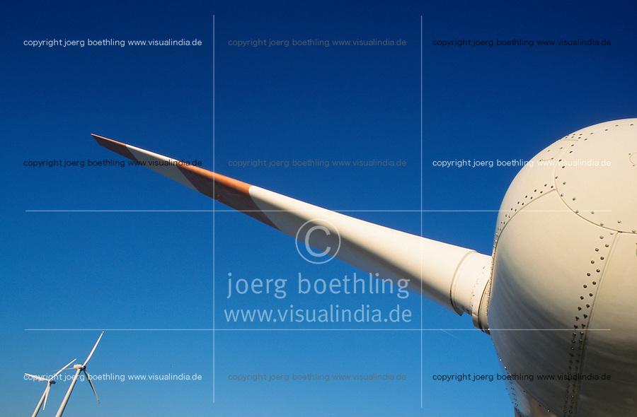 DEUTSCHLAND Schleswig-Holstein, Detail einer Windturbine im Windpark Westkueste am Kaiser-Wilhelm-Koog / Germany, detail of wind turbine