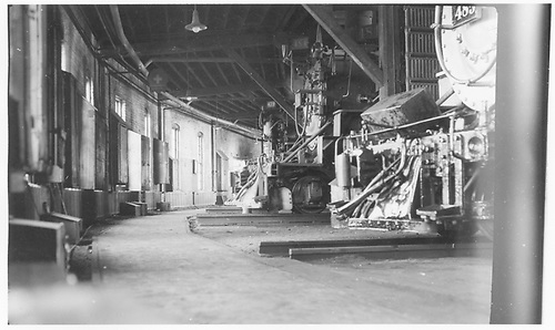 Smokebox view of three D&amp;RGW narrow gauge engines in the Alamosa roundhouse.<br /> D&amp;RGW  Alamosa, CO  Taken by Maxwell, John W. - 7/4/1948
