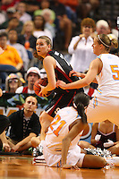 8 April 2008: Stanford Cardinal Jeanette Pohlen during Stanford's 64-48 loss against the Tennessee Lady Volunteers in the 2008 NCAA Division I Women's Basketball Final Four championship game at the St. Pete Times Forum Arena in Tampa Bay, FL.