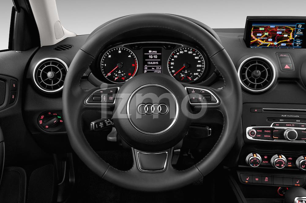 Car pictures of steering wheel view of a 2015 Audi A1 Sportback 5 Door Hatchback Steering Wheel