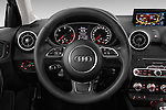 Car pictures of steering wheel view of a 2015 Audi A1 Sportback 5 Door Hatchback Steering Wheel