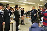 Yoshiro Mori, <br /> JANUARY 28, 2014 : <br /> For the first time in the office full-scale operation <br /> of the general Foundation Tokyo Olympic <br /> and Paralympic Games Organizing Committee, <br /> at the Metropolitan Government, <br /> Mr. Yoshiro Mori president, <br /> Toshiro Muto Secretary-General, <br /> Nunomura Deputy Secretary-General, <br /> the organizing committee assigned the 28th schedule staff, <br /> and, to say hello to Tokyo Olympic and Paralympic preparation station staff. <br /> at Tokyo Metropolitan Government Building, Tokyo, Japan. <br /> (Photo by YUTAKA/AFLO SPORT)