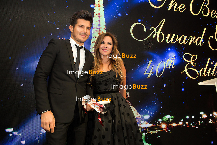 Vincent Niclo, H&eacute;l&egrave;ne S&eacute;gara : &quot; The Best &quot; 40th Edition &agrave; l'h&ocirc;tel George V.<br /> France, Paris, 27 janvier 2017.<br /> ' The Best ' 40th Edition at the George V hotel in Pais.<br /> France, Paris, 27 January 2017
