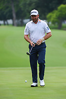 Graeme McDowell (NIR) looks over his putt on 5 during round 4 of the 2019 Charles Schwab Challenge, Colonial Country Club, Ft. Worth, Texas,  USA. 5/26/2019.<br /> Picture: Golffile | Ken Murray<br /> <br /> All photo usage must carry mandatory copyright credit (© Golffile | Ken Murray)