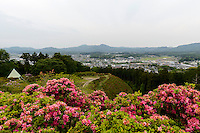 Kasama city from a nearby hilltop, Kasama city, Ibaraki, Japan, May 10, 2013.