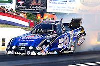 May 16, 2014; Commerce, GA, USA; NHRA funny car driver Robert Hight during qualifying for the Southern Nationals at Atlanta Dragway. Mandatory Credit: Mark J. Rebilas-USA TODAY Sports