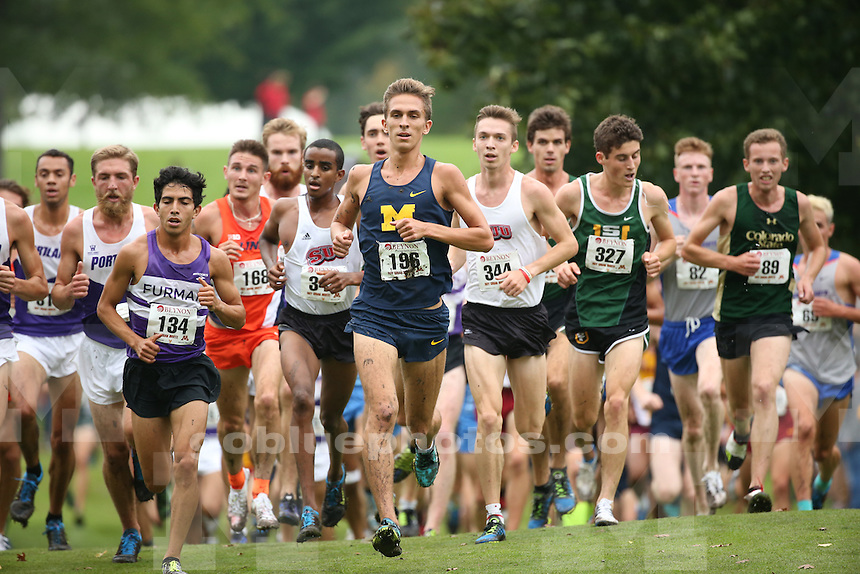 University of Michigan men's cross country team compete in the University of Minnesota Roy Griak Invitational Cross Country meet at Les Bolstad Golf Course in St. Paul, Minn., on Sept. 24, 2016.
