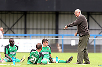 Dagenham manager John Still gives the players instructions at half time during Bedford Town vs Dagenham & Redbridge, Friendly Match Football at The Eyrie on 15th July 2017