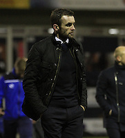 Luton manager Nathan Jones walks towards the tunnel during the Sky Bet League 2 match between Luton Town and Yeovil Town at Kenilworth Road, Luton, England on 2 February 2016. Photo by Liam Smith.
