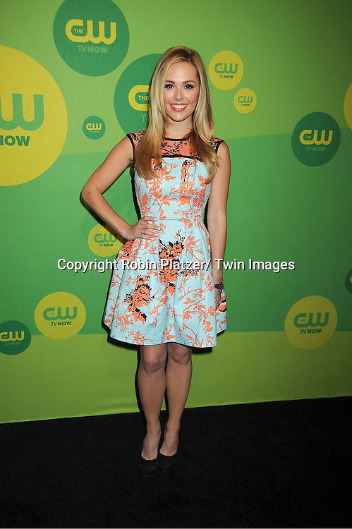 "Natalie Hall  of "" Star-Crossed"" attends the CW Network's 2013 Upfront Presentation on May 16, 2013 at the London Hotel in New York City."
