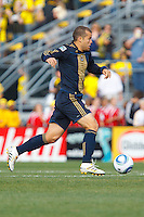 24 OCTOBER 2010:  Philadelphia Union forward Alejandro Moreno (15) during MLS soccer game against the Columbus Crew at Crew Stadium in Columbus, Ohio on August 28, 2010.