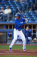 Tulsa Drillers outfielder Peter Lavin (20) at bat during a game against the Midland RockHounds on June 2, 2015 at Oneok Field in Tulsa, Oklahoma.  Midland defeated Tulsa 6-5.  (Mike Janes/Four Seam Images)