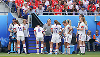 DECINES-CHARPIEU, FRANCE - JULY 07: USWNT during the 2019 FIFA Women's World Cup France Final match between Netherlands and the United States at Groupama Stadium on July 07, 2019 in Decines-Charpieu, France.