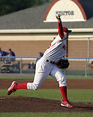 July 16, 2004:  Pitcher Andy Baldwin of the Batavia Muckdogs, Short-Season Single-A affiliate of the Philadelphia Phillies, during a game at Dwyer Stadium in Batavia, NY.  Photo by:  Mike Janes/Four Seam Images