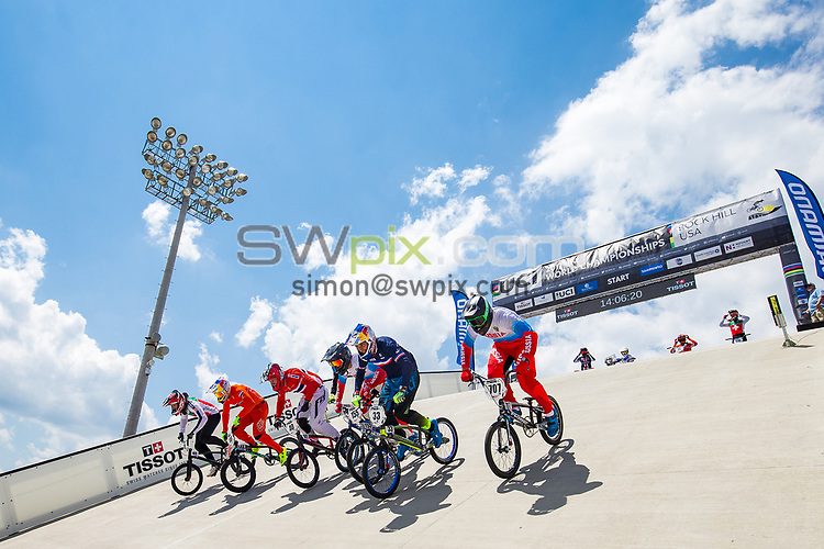 Picture by Alex Whitehead/SWpix.com - 29/07/2017 - Cycling - 2017 UCI BMX World Championships - Novant Health BMX Supercross Track, Rock Hill, USA - Brief. Shimano, Tissot. Pro Gate.