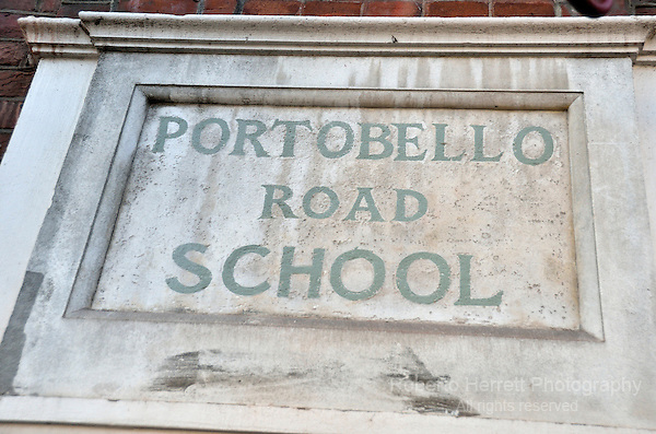 Portobello Road School sign.